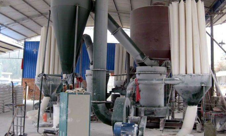 广西象州重晶石磨粉生产