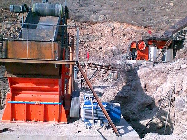 石料生产线现场